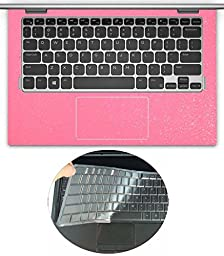 2in1 Wrist Palmrest Skin with Touchpad Sticker + TPU Keyboard Protector Cover for 11.6\