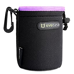 Evecase Neoprene Soft Flush interior Pouch for DSLR Camera Lens, Small