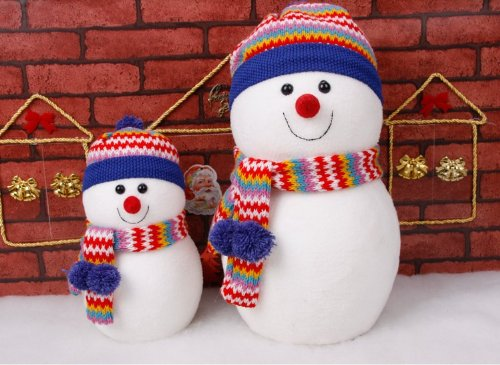 christmas decoration gift window display party decorations room decor snowman dolls two size combination - Homemade Christmas Window Decorations