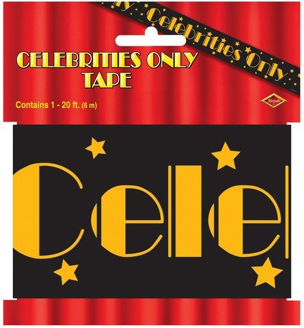 Beistle 66108 Celebrities Only Party Tape, 3-Inch by 20-Feet