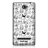 Head Case Designs Flowers and Leaves Doodle Owl Back Case Cover for HTC Windows Phone 8S