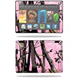 "Mightyskins Protective Skin Decal Cover for Amazon Kindle Fire HDX 7"" Tablet (2013) wrap sticker skins Pink Tree Camo"