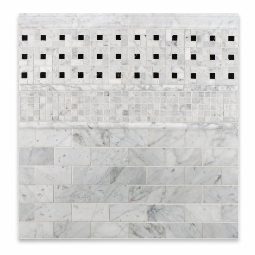 3 X 6 Bianco Carrara White Marble Honed Brick Tile ceccoli n худ ceccoli oracle book