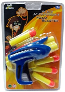 Impulse Kid Krrish Foam Blaster, Blue/Yellow