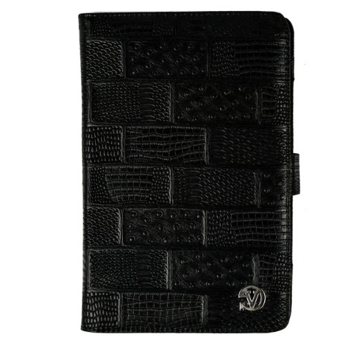 (Black Textured) VG Dauphine Portfolio Case Cover for Kobo Arc 7 HD / 7 Tablet at Electronic-Readers.com