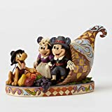 Jim Shore Disney Holiday Harvest Mickey and Minnie Autumn Figurine 4051981 New