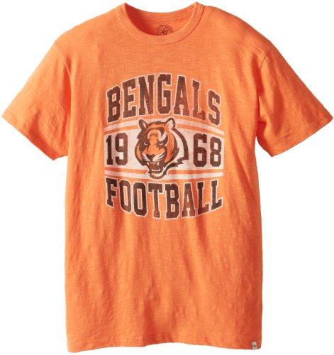 Nfl Cincinnati Bengals 107281 Men'S Scrum Basic Tee, Small, Carrot front-928207