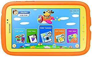 "Samsung Galaxy Tab 3 - Kids Edition (7"" Yellow with Orange Bumper Case) (Certified Refurbished) from Samsung"
