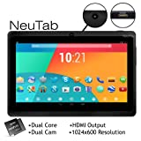 "NeuTab N7 7"" Dual Core Google Android 4.1 Jelly Bean Tablet PC, 1024X600 HD, Dual Camera, Google Play Pre-loaded, 3D-Game Supported"