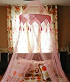 A-Express® Pink Romantic Mosquito Net Bed Canopy