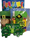 Gift Set St. Patrick s Day Leprechaun Cup, Plastic Glasses, Fun Time Coloring Book,crayons, 4 Plush Green Bear, Pot of Gold Kit 6pc Bundle