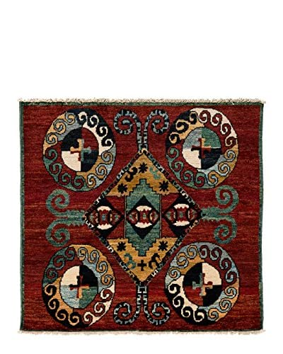 Darya Rugs One-of-a-Kind Tribal Rug, Red, 5' 5 x 5'