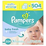 Pampers Softcare Baby Fresh Wipes 7x box, 504 Count