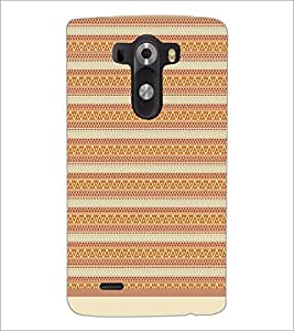 PrintDhaba Tribal Pattern D-1738 Back Case Cover for LG G3 (Multi-Coloured)
