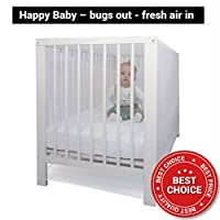 Limited Time 35% OFF | Mosquito Net FOR CRIB by #1 EVEN Naturals | Baby Bed Pack'n'Play Bassinet Playpen Cradles | Free Carry Bag & Free eBook | Soft Insect Netting 55x30x39 Fly Screen Protection from EVEN Naturals