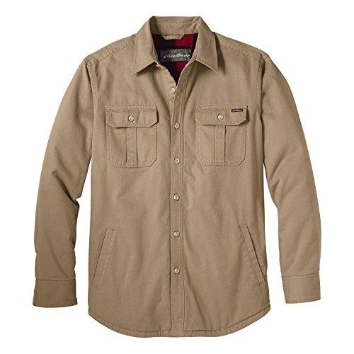 (エディー・バウアー) Eddie Bauer 長袖レジェンドウォッシュフリースラインシャツジャケット(ダークサンド M)