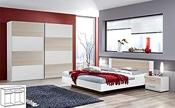 Komplett Schlafzimmer 720 weiss esche Bett 140x200 cm