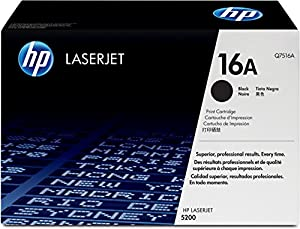 HP Hewlett Packard laserjet Q7516A 16A 5200 5200n 5200dn 5200dtn - laser cartridge - 1 x black