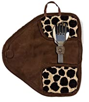 Fashion Leopard Style Mytensils Titanium Portable Utensil Flatware Set with Travel Case and Serrated Knife Set