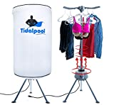 tidalpool portable clothes dryer 1200w electric laundry drying rack with heater uv light