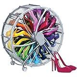 Schuhregal der besonderen Art - Chrom look Schuhkarusell für 17 Paar Schuhe besonders praktisch, modern und platzsparend!