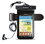 "DandyCase Waterproof Case with Underwater Earphones for Apple iPhone 5, Galaxy S4, HTC One, iPod Touch 5 - Also fits other Large Smartphones up to 5.3"" Including Galaxy S3, HTC One X/X+, Droid RAZR/MAXX, Nexus 4, EVO 4G LTE, Droid Incredible, LG Optimus G, Nokia Lumia, Droid DNA, Windows Phone 8X - IPX8 Certified to 100 Feet [Retail Packaging by DandyCase]"