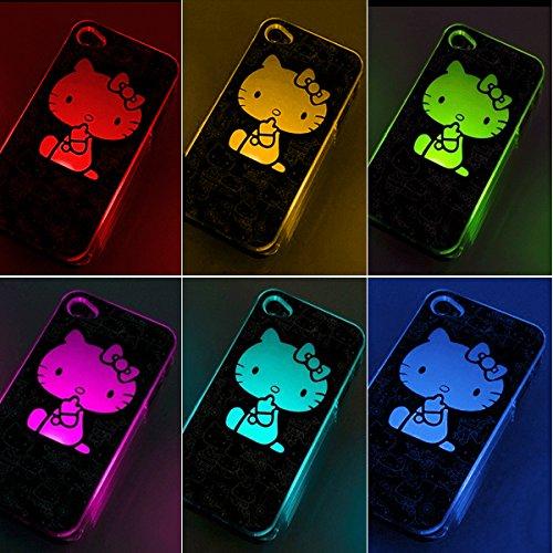 Ledo® Battery Operated Led Light Up Case For Apple Iphone 5 5S (Hello Kittty)