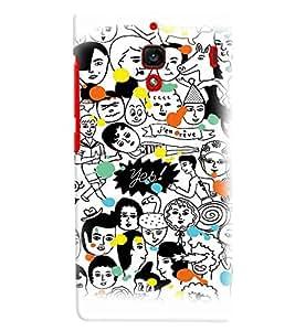 PrintVisa Cute Cartoon Modern Art Friends 3D Hard Polycarbonate Designer Back Case Cover for Xiaomi Redmi 1S