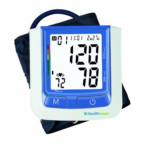 Healthsmart 04-631-001 Healthsmart Select Automatic Digital Blood Pressure Monitor, Standard Cuff, Blue