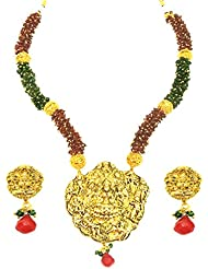 SatyamJewelleryNx Traditional Temple Laxmi Pendant Necklace Set For Women Jewellery (Diwali Special)