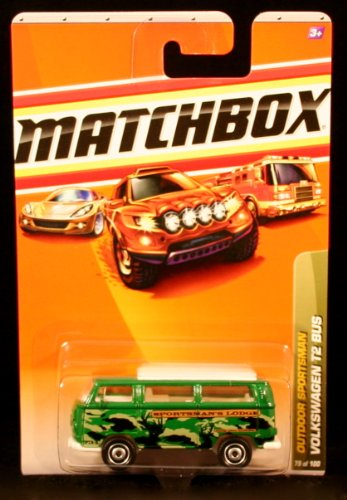 VOLKSWAGEN T2 BUS Outdoor Sportsman Series (#6 of 10) MATCHBOX 2010 Basic Die-Cast Vehicle (#79 of 100)