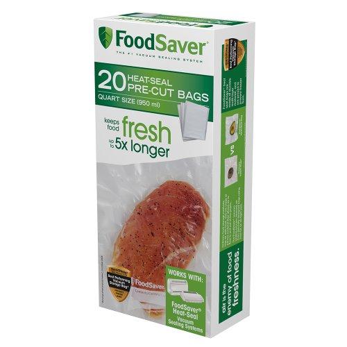 FoodSaver 20 Quart-sized Bags (Foodsaver Plastic compare prices)