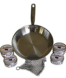 Halo Scrubby, Preferred Premium Cast Iron Skillet, Stainless Steel Cookware, Scrubber and Cleaner