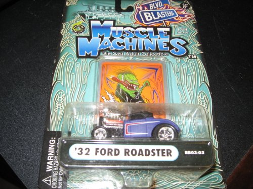 Muscle Machines: 32 Ford Roadster BB03-03 Black-Gray 1:64 - 1