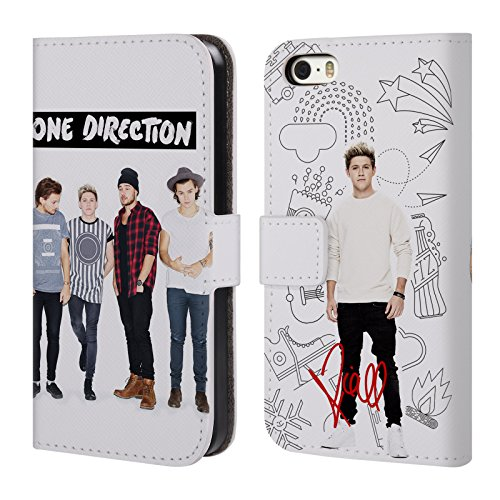 Official One Direction Niall Full Group Photo Solo Leather Book Wallet Case Cover For Apple iPhone 5 / 5s / SE (Iphone 5 S Case One Direction compare prices)