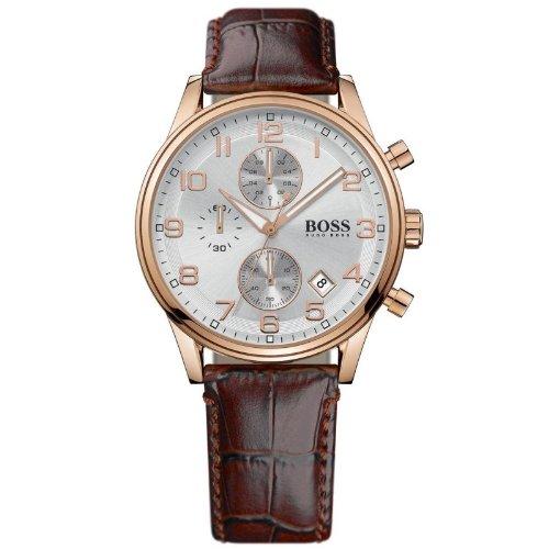Hugo Boss 1502226 - Reloj analógico de cuarzo para mujer con correa de piel, color marrón