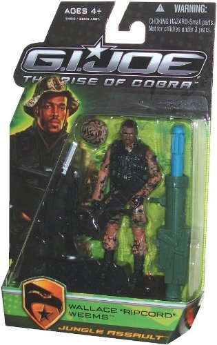 Buy Low Price Hasbro G.I. Joe Movie The Rise of Cobra 3 3/4 Inch Action Figure Wallace Ripcord Weems Jungle Assault (B0030DDE20)
