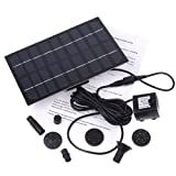 TOMTOP 1.8W 9V New Solar Brushless Pump For Water Cycle/Pond Fountain/Rockery Fountain