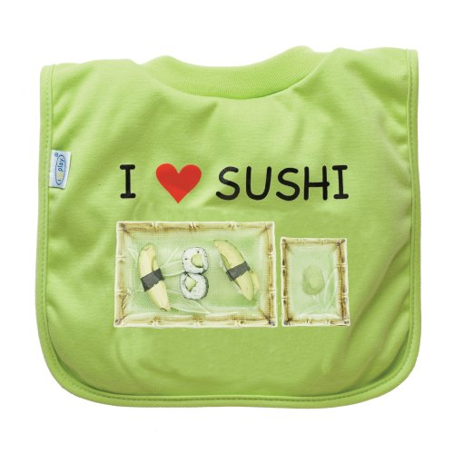 green sprouts  Favorite Food Bib, Lime Sushi - 1