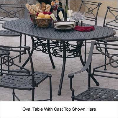 """Delphi Motif 48"""" Round Glass Dining Table Style: With Umbrella Hole, Finish: Tuscan Sand, Glass Type: Clear"""
