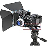 """Neewer® Aluminum Alloy DSLR Rail 15mm Rod Support Baseplate with 1/4"""" Screw Quick Release Plate for Follow Focus Mattebox DSLR Rig System"""