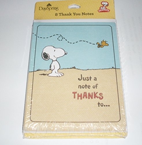 Peanuts Snoopy & Woodstock Thank You Cards / Notes front-611983