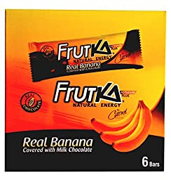 Caoni Frutka Natural Milk Chocolate Banana Energy Bars From Ecuador, 6 Count Box (37 Gram/1.31 Oz Bars)