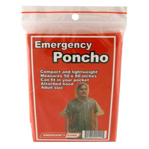 Emergency Poncho, Emergency Rain Gear, Weather