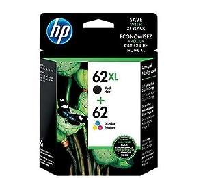 HP 62XL Black/62 Tri-Color Ink Cartridges, N9H67FN, 2/Pack