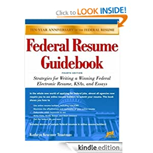 federal resume guidebook strategies for