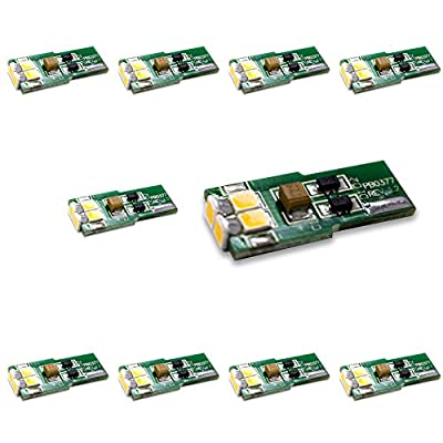 BrightechTM - Package of 10 LED Replacements for Malibu Landscape Lights - T10 Wedge Base - 12V DC - Bring Your Landscape Lighting to the 21st Century