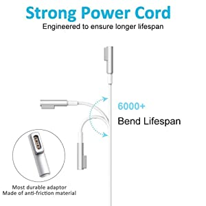 Mac Book Pro Charger, 60W Magsafe Power Adapter L-Tip Magnetic Connector Charger for Mac Book and 13-inch Mac Book Pro(Before Mid 2012 Models) (Color: 60W-L)