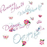 RoomMates RMK1521SCS Disney Princess Quotes Peel & Stick Wall Decals