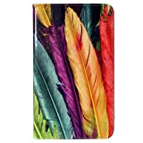 CaseGuru HP Slate Feathers Fun Printed Pattern Premium Luxury Multi Function Standby Slim Case Cover